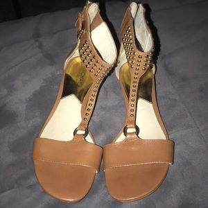 Micheal kors sandals with wedge